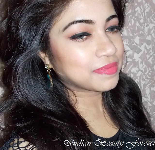 Quick Makeup Look with Peachy Pink Lips tutorial