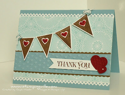 Stampin' Up! Curly Cute Thank You Card