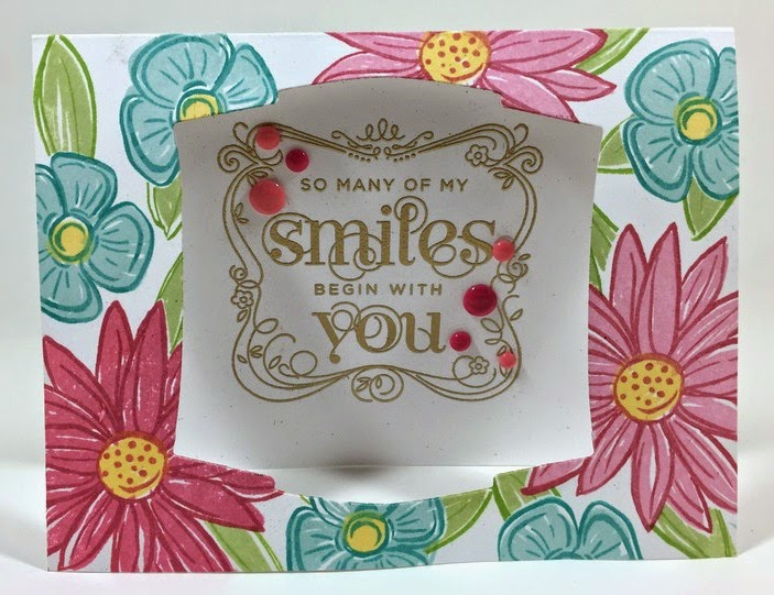 A Budding Friendship stamped card