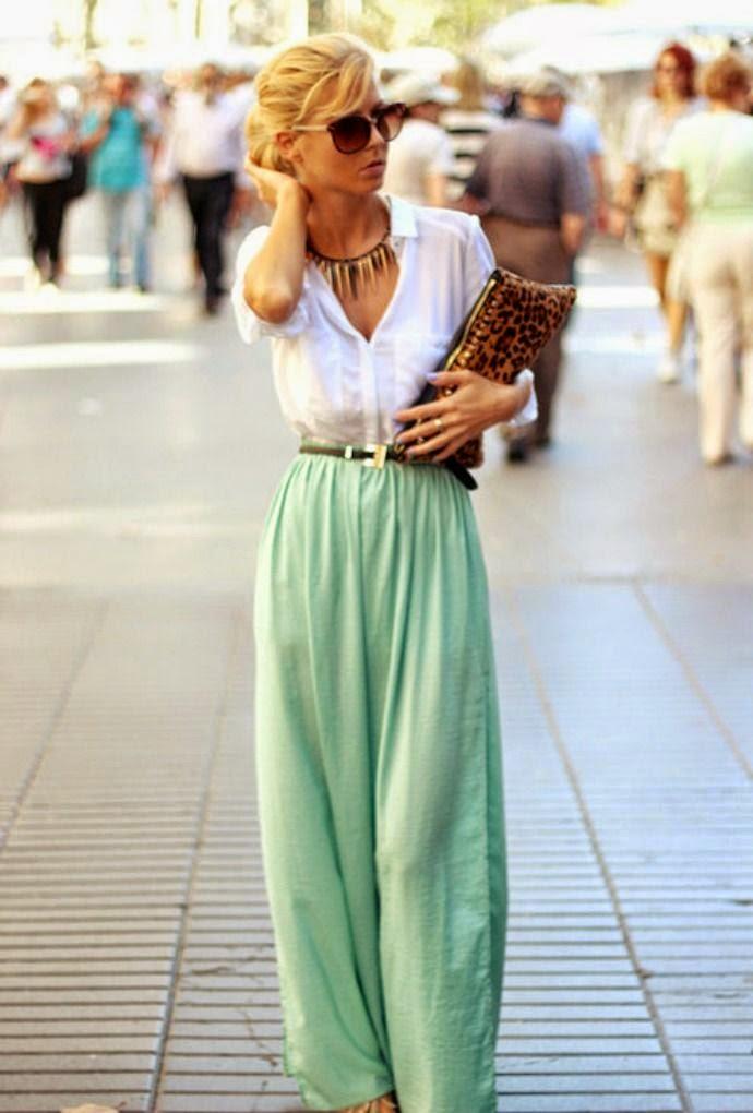 Street Style + hand bag + Light green trouser