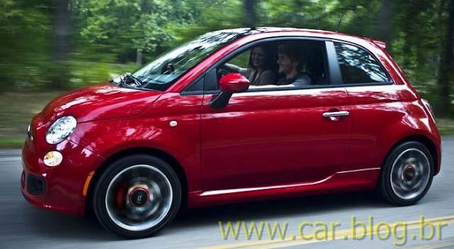 Novo Fiat 500 2012 - lateral