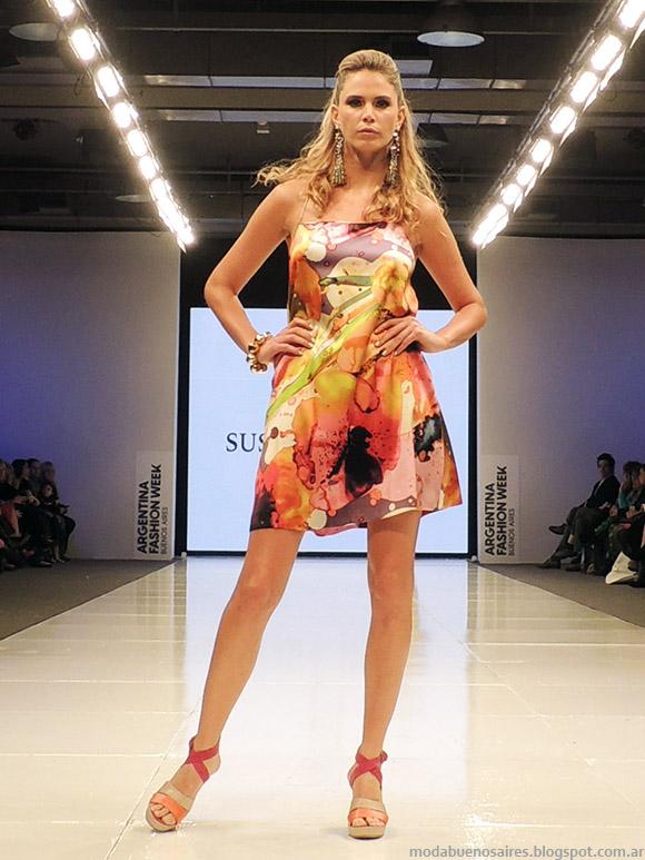 Vestidos cortos Susana Ortiz primavera verano 2015. Moda primavera verano 2015.