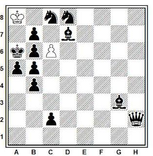 Problema ejercicio de ajedrez número 845: Estudio de H. M. Lommer (Journal de Genève, 1965)