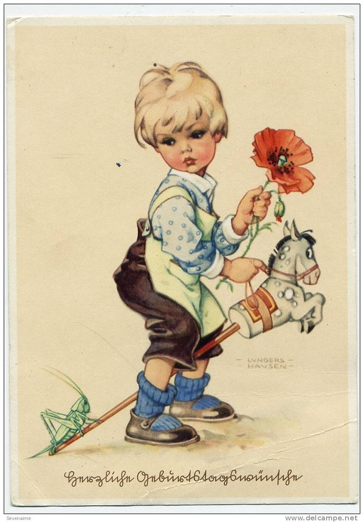 Девочка с мишкой старинная открытка