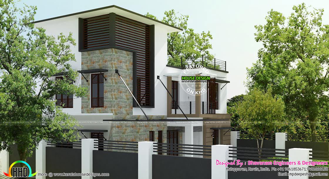 Contemporary Home In 3 5 Cent Kerala Home Design And