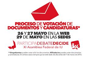Votación presencial documentos y candidaturas XI Asamblea Federal IU