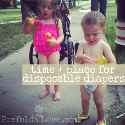 when to use disposable instead of cloth diapers