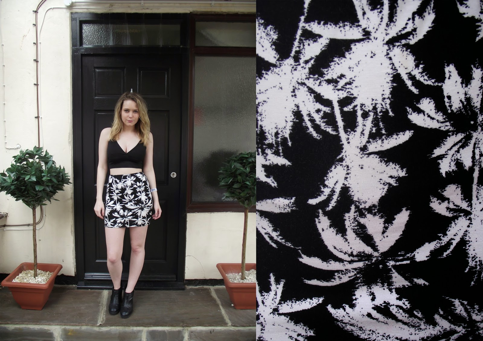 Lrsmth-Fashion Palm Print featuring New Look & Missguided
