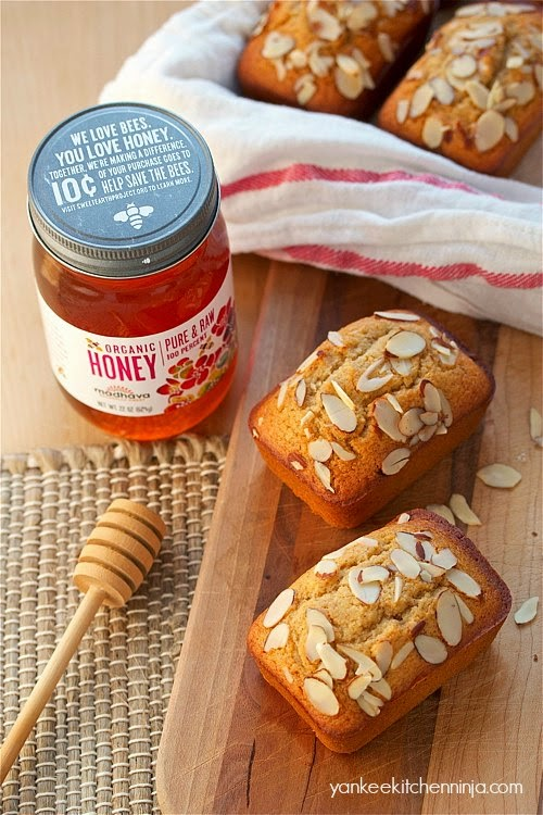 honey almond cake loaves make great holiday food gifts