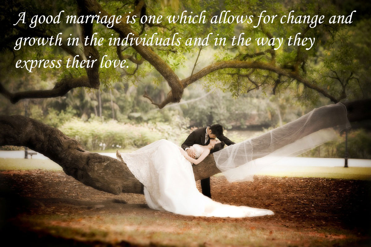 A Good Marriage Is One Which Allows Nice Picture Quotes