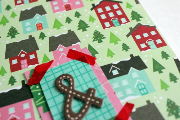 """Love how the """"&"""" sign looks with the Christmas wrapping paper."""