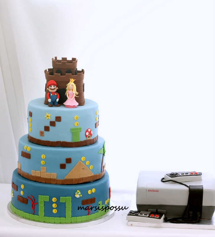 Super Mario -hääkakku