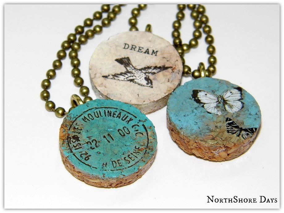 Northshore days cork pendant necklaces cork pendant necklaces aloadofball Choice Image
