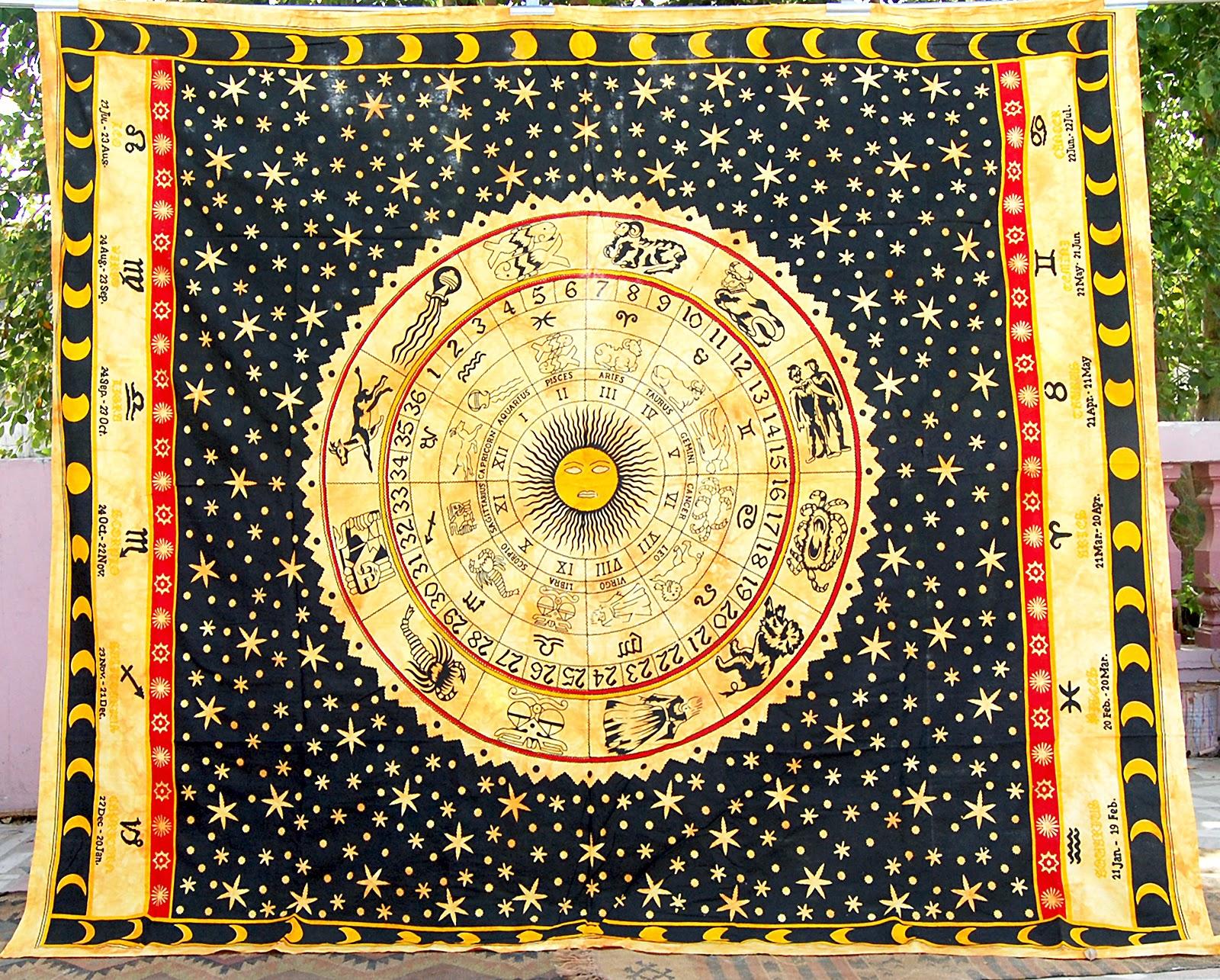 Hippie Tapestries, Mandala Tapestries, Queen Boho Tapestries, Wall ...