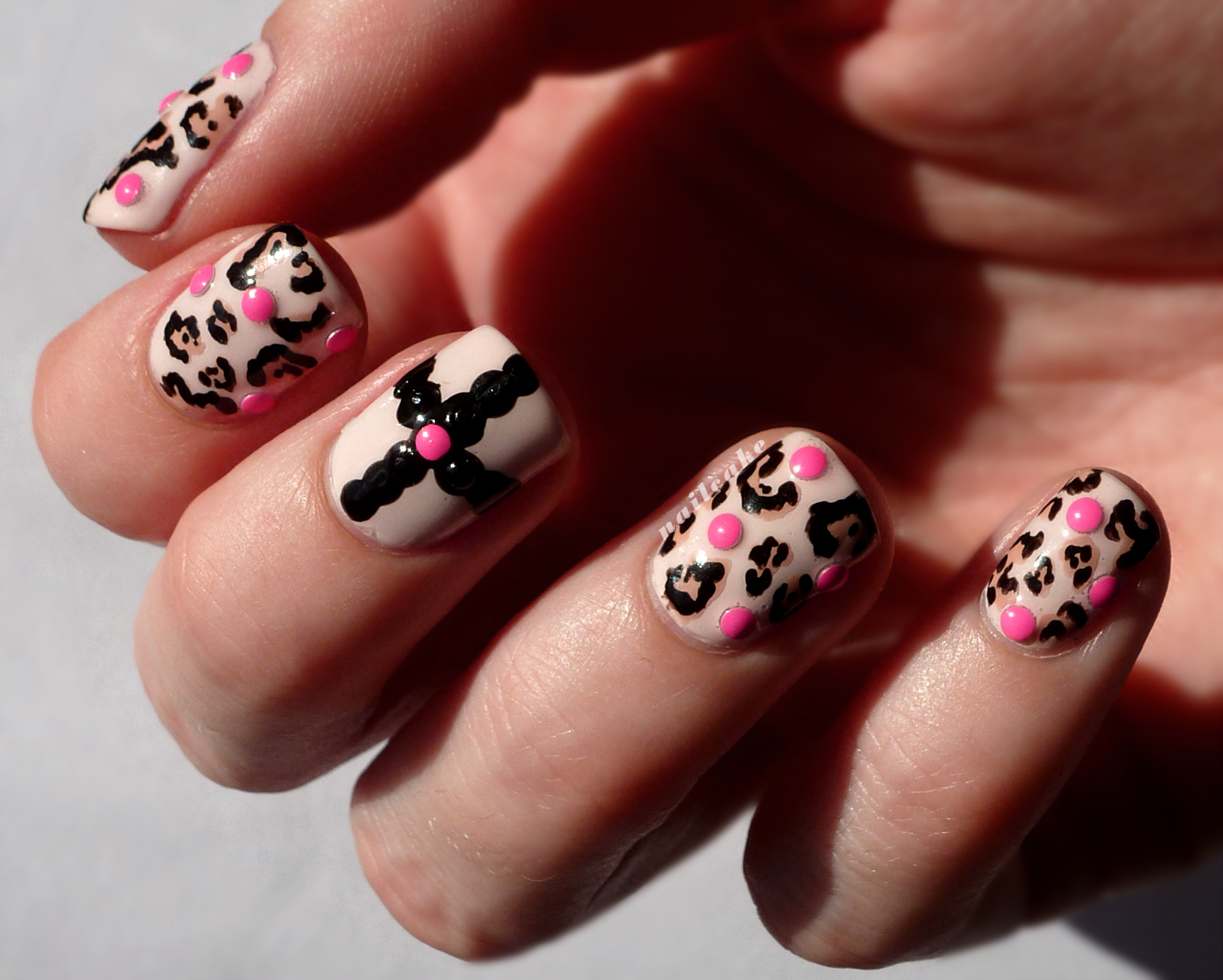 Nail cake neutral leopard popping neon bornpretty fluorescent neutral leopard popping neon bornpretty fluorescent studs review nail art prinsesfo Gallery