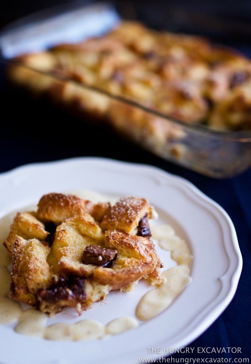 Boozy Bread Pudding With Chocolate Chips