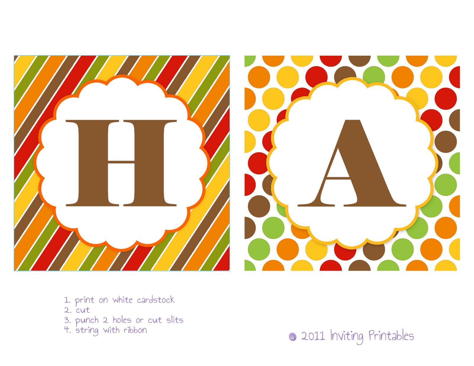 Playful image in fall banner printable