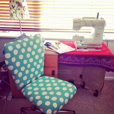 Spotty sewing room chair
