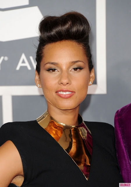 grammy awards 2012,grammy awards red carpet,diy,fashion diy,metal collar, alicia keys