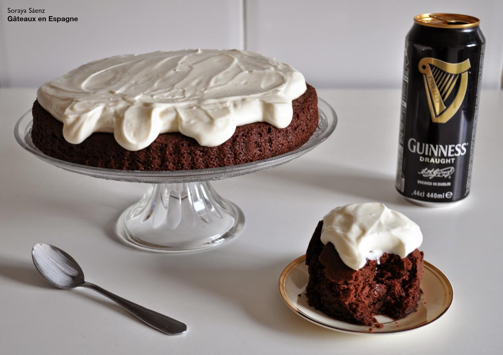 gateau chocolat biere noire guinness recette