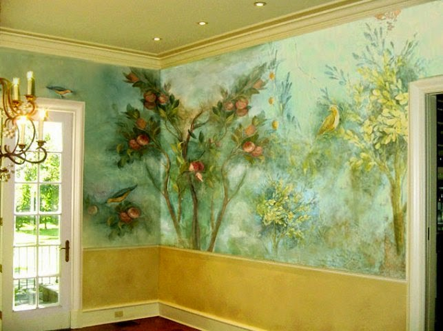 Decorative painting techniques for interior walls wall for Interior painting designs wall