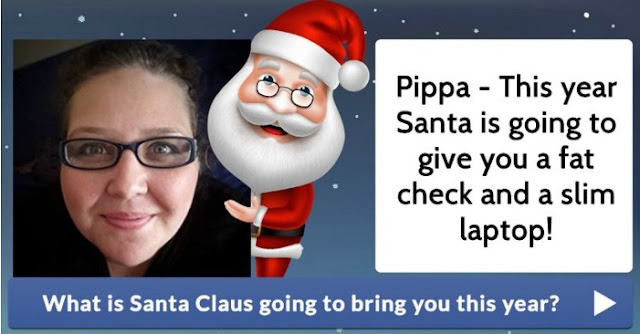 What is Santa Claus going to bring you this year? Cheeky Santa!