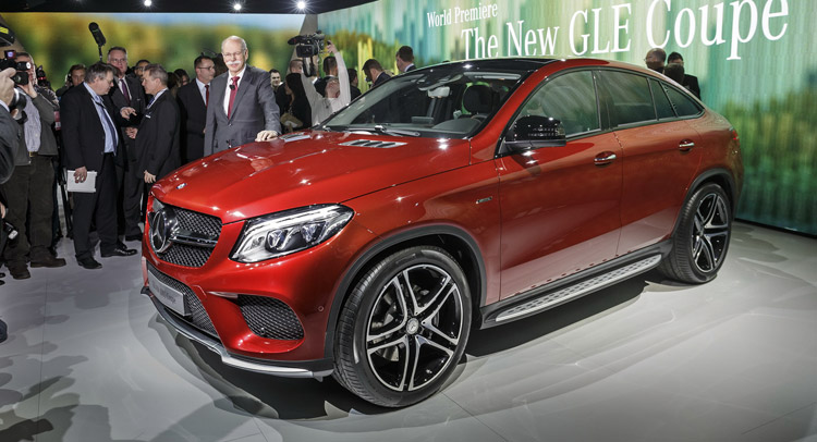 lastcarnews new mercedes gle 450 amg coupe lands in detroit with twin turbo v6. Black Bedroom Furniture Sets. Home Design Ideas