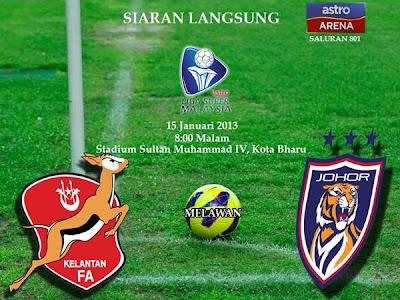 Live Streaming Kelantan vs Darul Takzim 15 Januari 2013