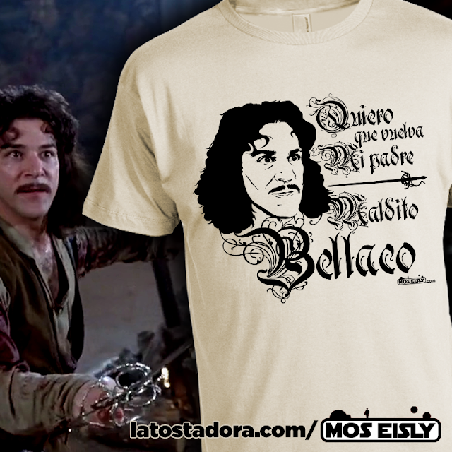 camiseta iñigo montoya princesa prometida maldito bellaco
