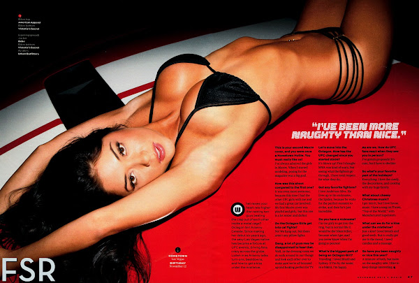 Arianny Celeste in a skimpy black bikini laying on the hood of a car