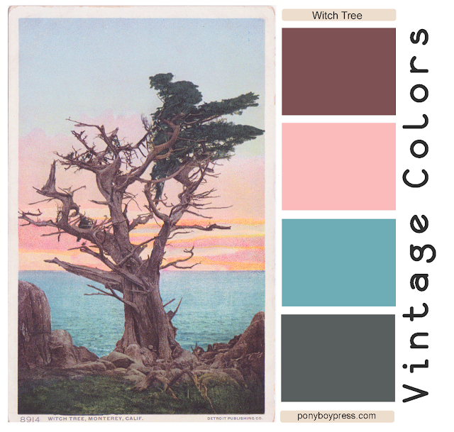 Vintage Color Palette - The Witch Tree - get hex color codes on the blog ponyboypress.com