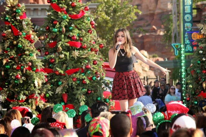 Lucy Hale – Disney Frozen Christmas Celebration