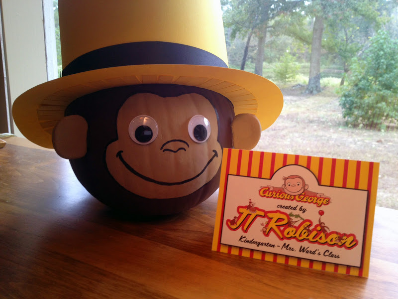Paper Perfection Curious George Pumpkin