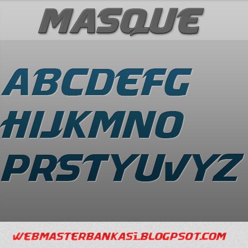 Masque yazı fontu İndir