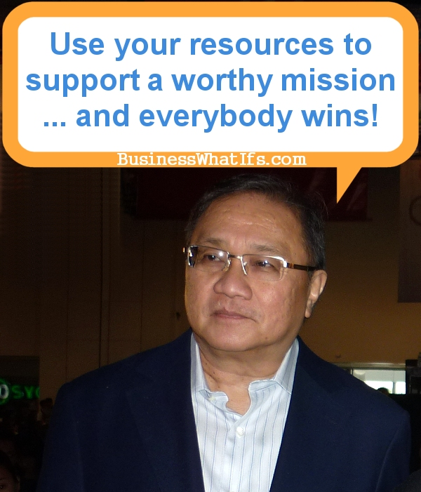 Manny V. Pangilinan uses his available resources to support Gilas Pilipinas.