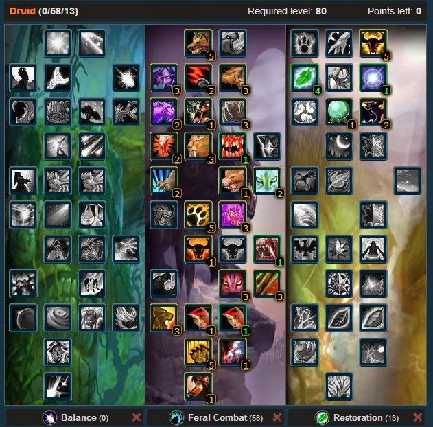 Feral Druid PvP Spec Builds and Talents Legion 7 3
