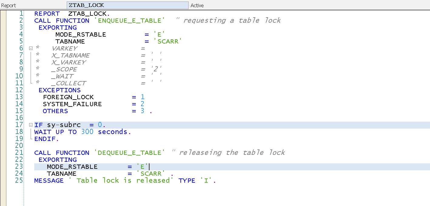 Techsap need a table level lock in sap abap for Level table sap