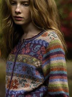 cardigan-tricot-rowan-floral
