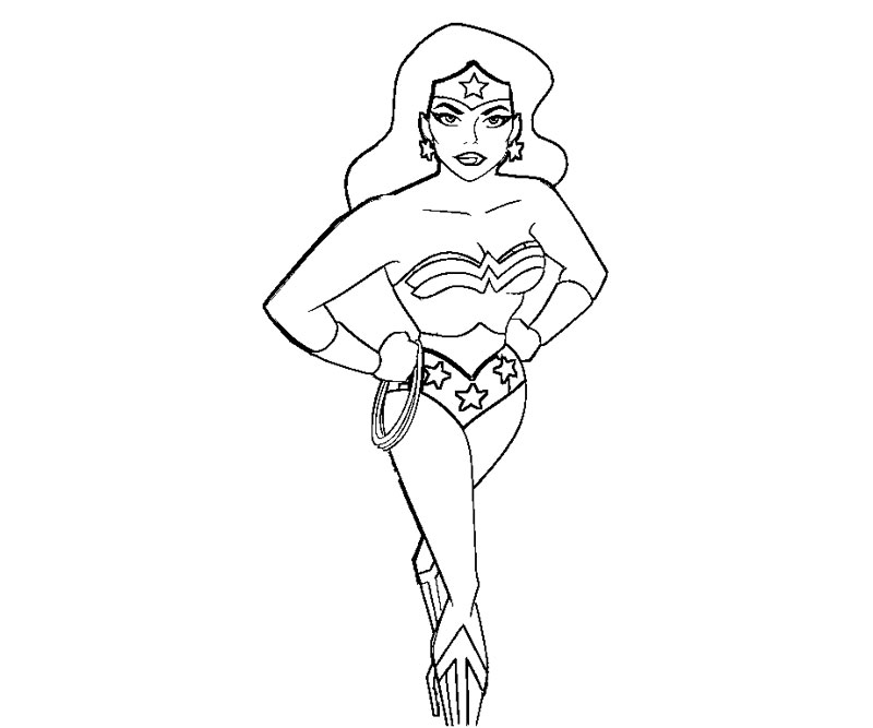 Wonder Woman Printable Coloring Pages