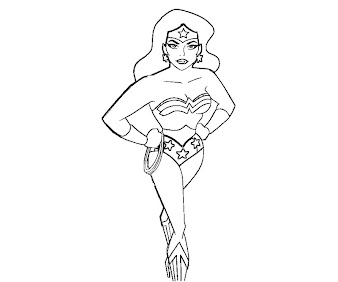 #6 Wonder Woman Coloring Page