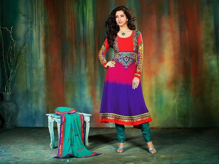 Colorful-Khadi-Work-on-Anarkali-Umbrella-Frock