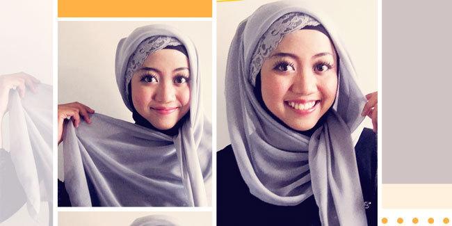 Segi Empat Terbaru dan Lengkap - Tutorial Hijab pashmina, simple, segi ...