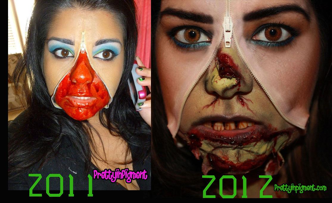Unzipped Zombie Makeup Tutorial