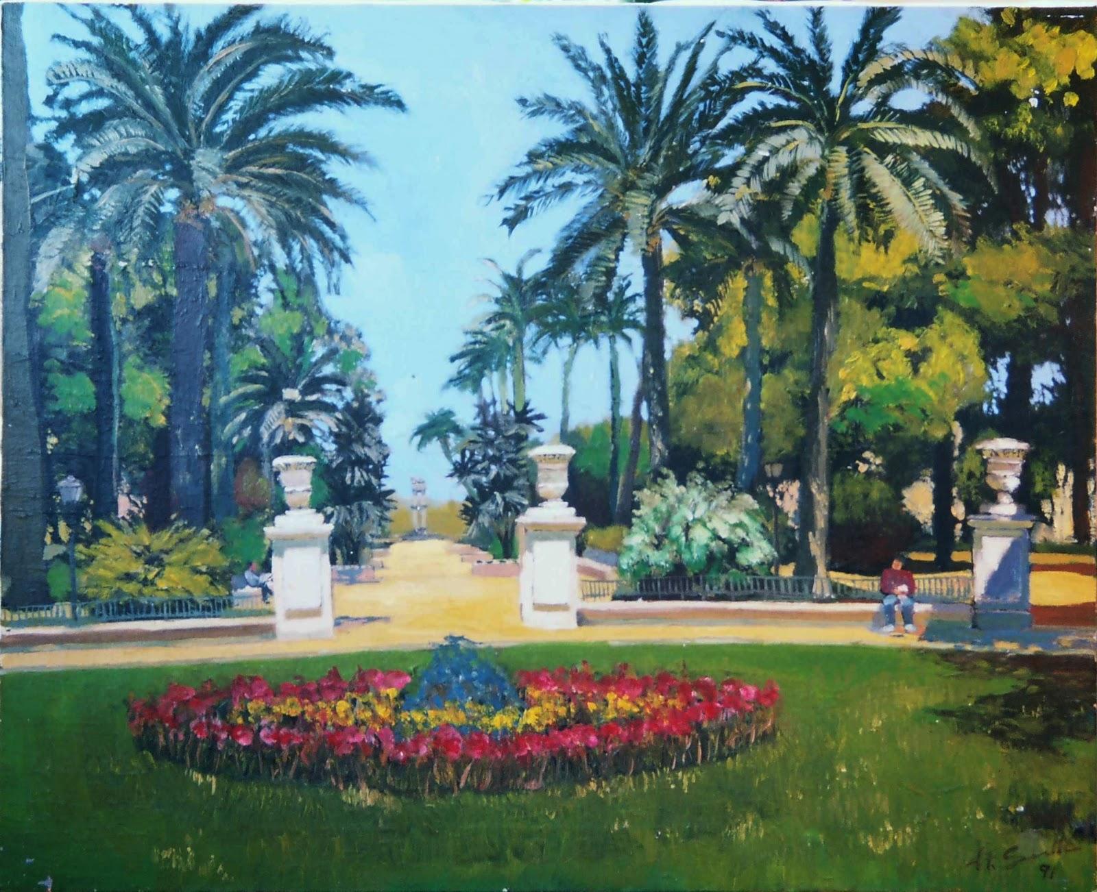 Papel y lienzo jardines de murillo 1991 for Jardines de murillo