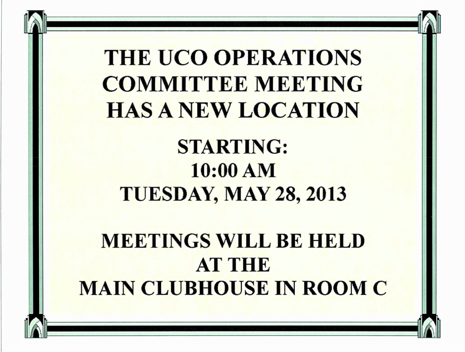 OUR VILLAGE in West Palm Beach : UCO OPERATIONS COMMITTEE ...