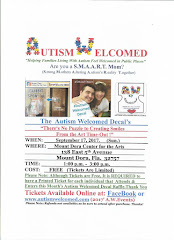 Autism Welcomed Decal (Sept. 17 ) There's No Puzzle to Creating Smiles from the Art  in Mt.Dora,FL
