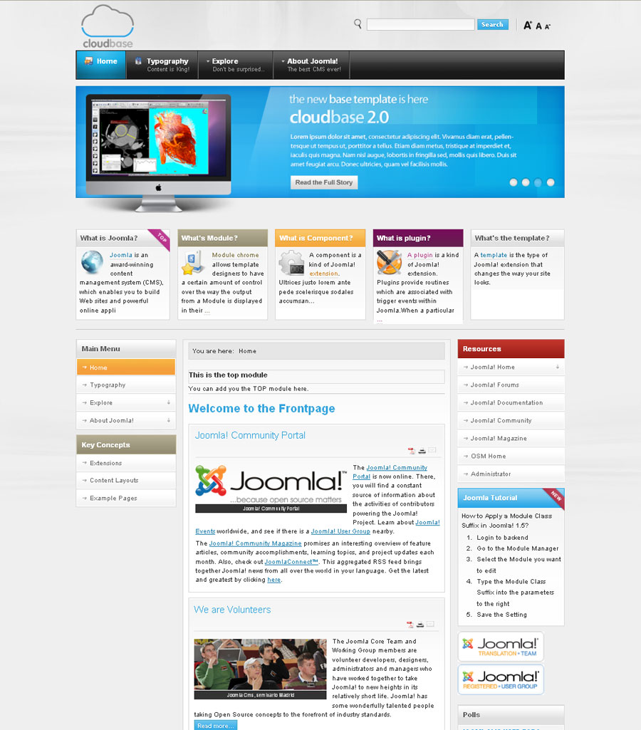 Clooudbase Joomla Templats Free