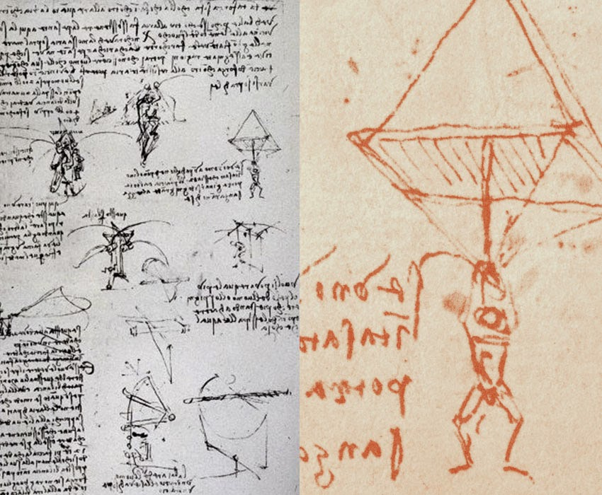 Leonardo Da Vinci's Ingenious Inventions - Parachute