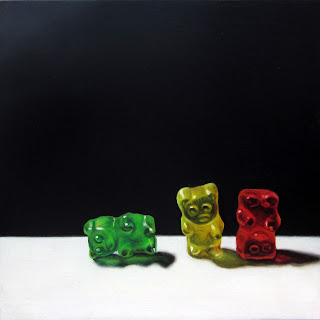 realistic painting of gummy bears