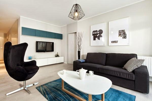 sangat penting terutama di rumah kecil atau apartemen untuk memperlihatkan keindahannya Komposisi Desain Interior Rumah Modern